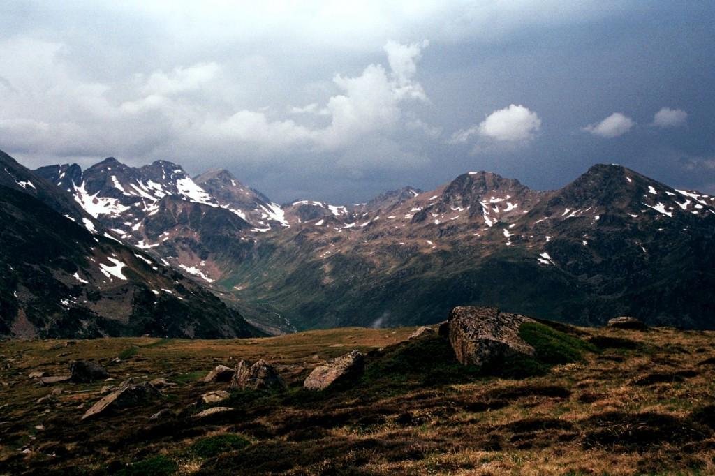 widok spod schroniska la Ruhle, przed burzą, czerwiec