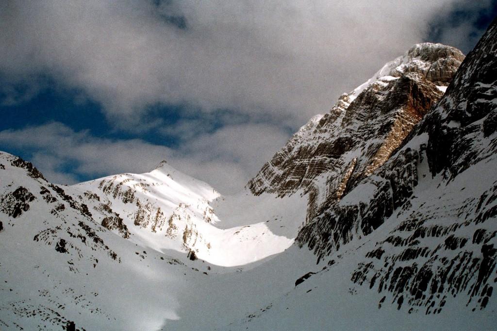 Colado Secus, chwilę przed zalewem narciarzy