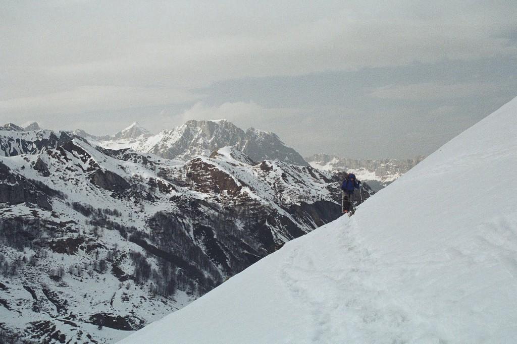 Podejście na Col de Saoubathou