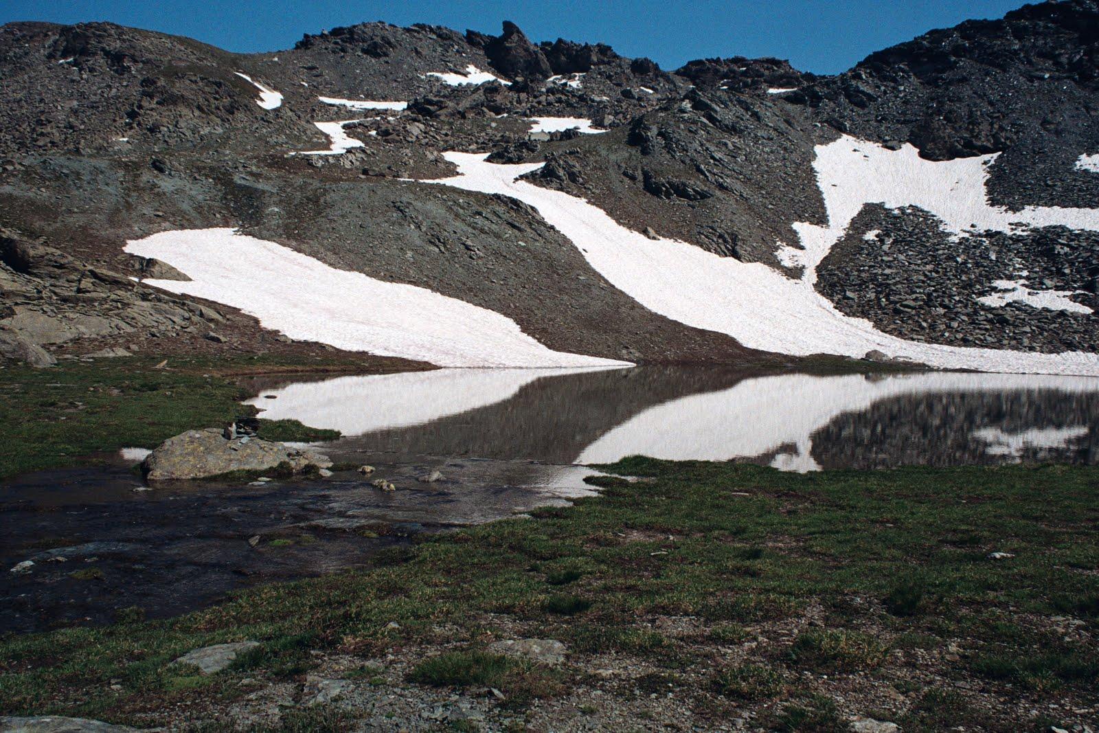 w lipcu w Queyras jest już niewiele śniegu