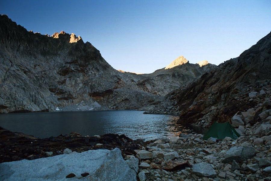 Biwak nad lac Clarabide