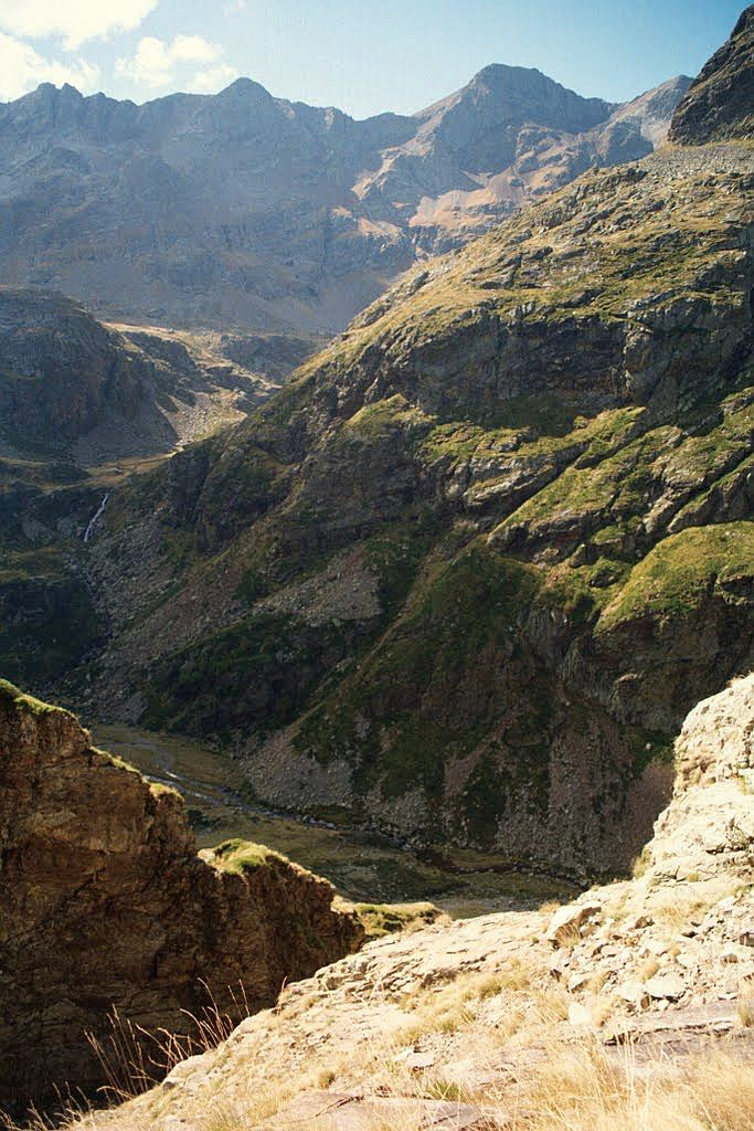 widok na próg doliny Aquas totres
