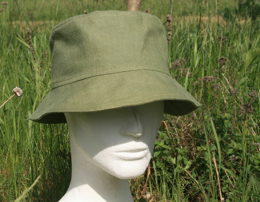 męski kapelusz z lnu