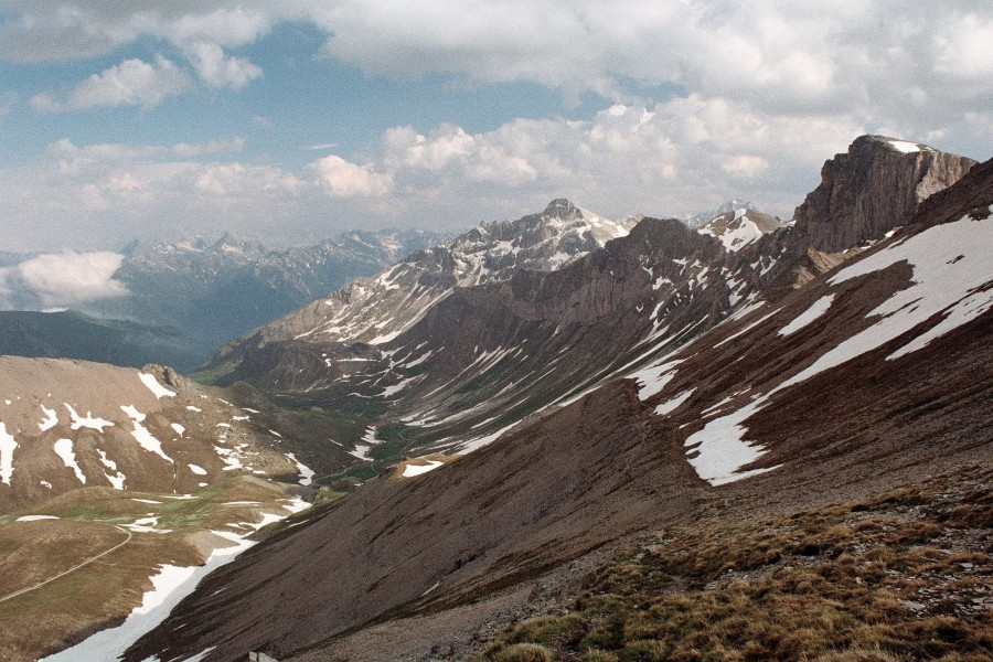 zejście z Monte Bellino
