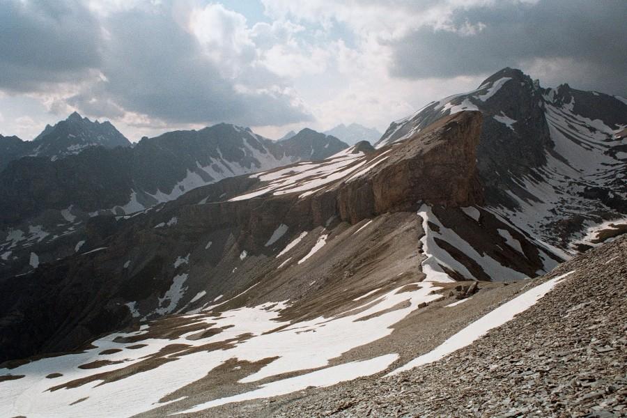 widok z podejścia na Monte Bellino