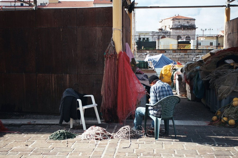 Port rybacki w Livorno