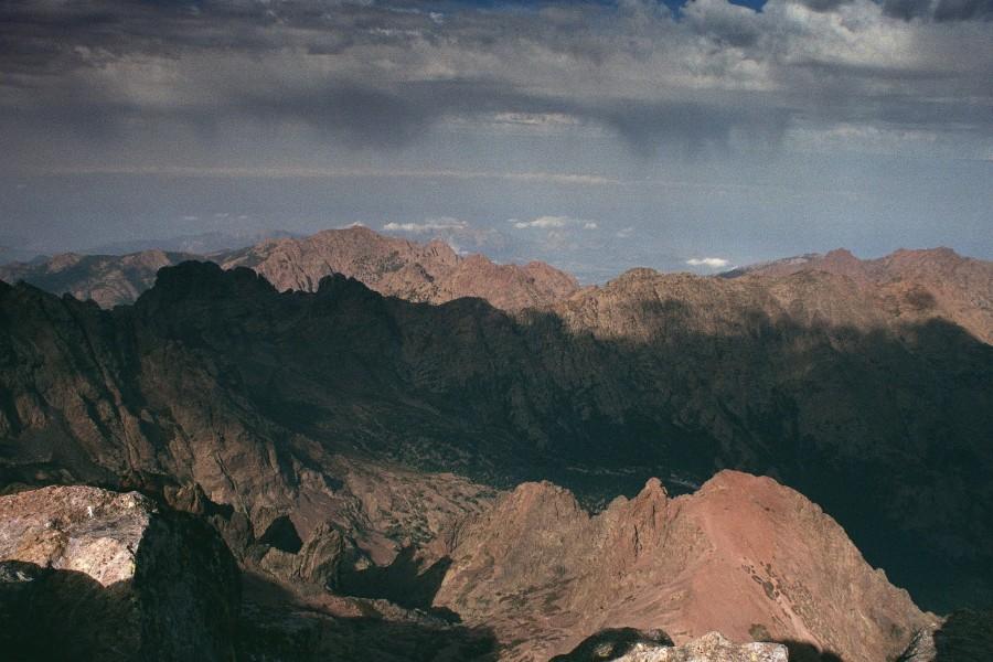 widok z Monte Cinto na północ