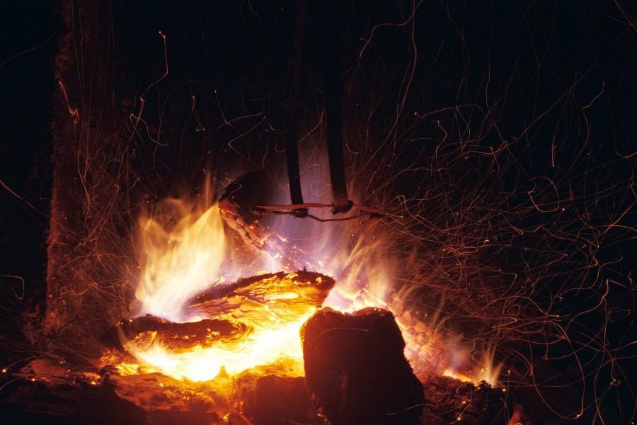 ogień, Pireneje marzec