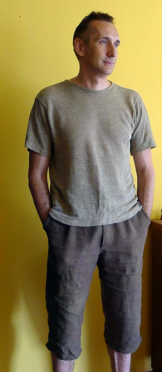 męska koszulka lniana Włosiennica 2