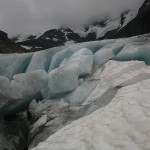 Hurungane, lodowiec z bliska