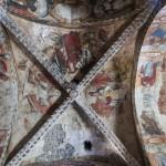 fresk na sklepieniu kościoła w Salardu, Pireneje
