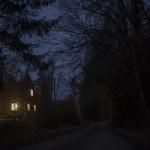 typowy dla Szwecji samotny domek