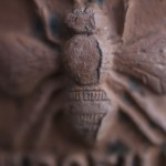 Opuszczona wieś Revinda e Case, fragment dachówki