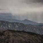 fale deszczu, Korsyka, styczeń