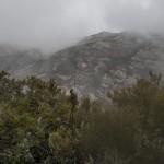 deszcz i mgła, typowa zimowa pogoda, Korsyka, styczeń