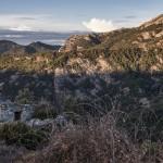 jeden z pasterskich domków, ten był zamknięty, Korsyka, styczeń