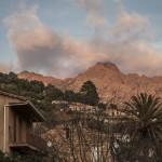 Korsyka, zachód słońca ponad Serriera