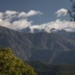 śnieg w wysokich górach, Korsyka, styczeń
