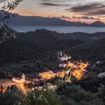 Bocca a Croce chwilkę po zachodzie słońca, Korsyka, styczeń