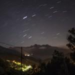 Calanche de Piana nocą, Korsyka, styczeń