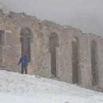 Ruiny kopalni na Port de Salau, Pireneje, Listopad