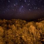 nocne niebo nad Salau, Pireneje, listopad