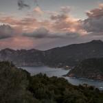 wschód słońca nad Girolata, Korsyka, styczeń