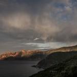 pierwsze promienie słońca, Korsyka, styczeń