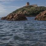 wieża w Girolata, Korsyka, styczeń