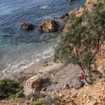 nasza kąpielowa zatoczka, Korsyka, styczeń
