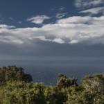 wichura na pełnym morzu, Korsyka, styczeń