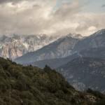 śnieżyca w wysokich górach, Korsyka, styczeń