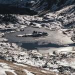 Estany Romedo del Dalt, Pireneje, listopad