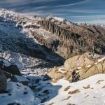 podejście na Port Couillac, juz pod granią, Pireneje, listopad