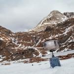 Przerwa na obiad z widokiem na Mont Roig, Pireneje listopad