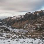 Estany de la Gola, widok z podejścia na Col Curios