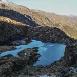 Etang Hillette i schronisko Hillette, Pireneje, listopad