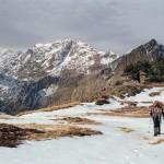 w tle Mont Roig, Pireneje listopad