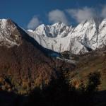 widok z Couflens na Port Aula, Pireneje, listopad