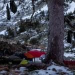 biwak nad Estany Romedo, Pireneje, listopad