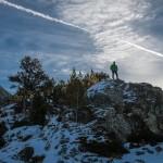 skała na której biwakowaliśmy, Pireneje, listopad