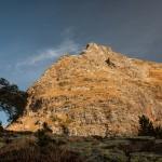 przełączka ponad stawkiem Guerroso, Pireneje, listopad