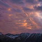 chWschód słońca, Pireneje, listopad