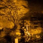 cmentarz w Unarre, Pireneje, listopad