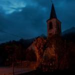 Kościół świętej Julii w Unarre o świcie