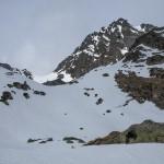 Pireneje, kwiecień podejście na Port Siguer
