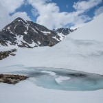 Pireneje, kwiecień, jeziorko pod Port Siguer