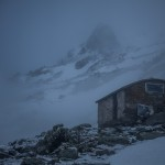 Pireneje kwiecień, cabana gdzie przenocowaliśmy