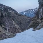 podejście pod próg doliny Artigue