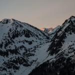 poranny widok ze schroniska na Col de Joux